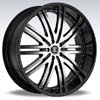 Crave Number 11 Black Machine Black Lip 24 X 10 Inch Wheels