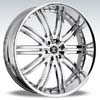Crave Number 11 Chrome 24 X 10 Inch Wheels