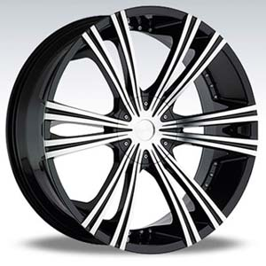 Crave Number 12 Black Machine 26 X 10 Inch Wheels