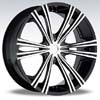 Crave Number 12 Black Machine 24 X 10 Inch Wheels