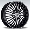 Crave Number 13 Black Machine Black Diamond Lip 18 X 7 Inch Wheels