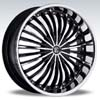 Crave Number 13 Black Machine Chrome Lip - 18 Inch Wheels