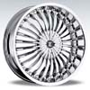 Crave Number 13 Chrome - 22 Inch Wheels