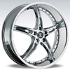 Crave Number 14 Chrome 22 X 8.5 Inch Wheels