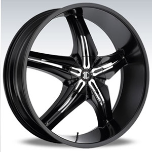 Crave Number 15 Black Chrome Insert 1 26 X 9.5 Inch Wheels