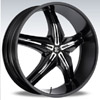 Crave Number 15 Black Chrome Insert 1 24 X 10 Inch Wheels