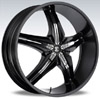 Crave Number 15 Black Chrome Insert 2 24 X 10 Inch Wheels