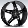 Crave Number 15 Black 22 X 9.5 Inch Wheels