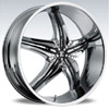 Crave Number 15 Chrome Black Insert 1 26 X 9.5 Inch Wheels