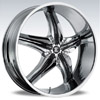 Crave Number 15 Chrome Black Insert 2 26 X 9.5 Inch Wheels