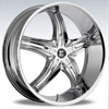 Crave Number 15 Chrome 22 X 9.5 Inch Wheels