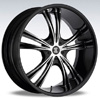 Crave Number 2 Black 20 X 8.5 Inch Wheels