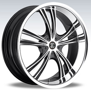 Crave Number 2 Gun Metal Machine Face Chrome Lip 15 X 7 Inch Wheels