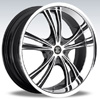 Crave Number 2 Gun Metal Machine Face Chrome Lip 17 X 7 Inch Wheels