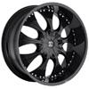 Crave Number 3 Black Matte 22 X 9.5 Inch Wheels