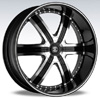 Crave Number 4 Black Diamond 24 X 10 Inch Wheels