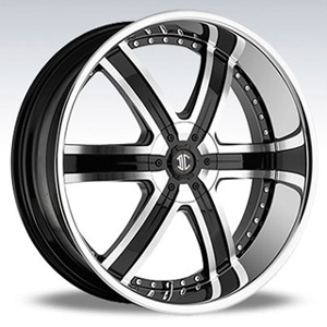 Crave Number 4 Black Machined Chrome Lip 28 X 9.5 Inch Wheels