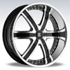 Crave Number 4 Black Machined Chrome Lip 24 X 10 Inch Wheels
