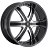 Crave Number 4 Black Machined Face 24 X 10 Inch Wheels
