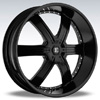 Crave Number 4 Black - 22 Inch Wheels