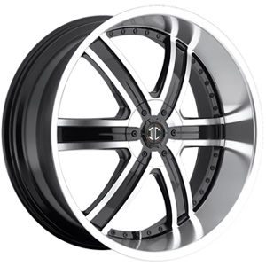 Crave Number 4 Machined Black 26 X 9.5 Inch Wheels