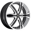 Crave Number 4 Machined Black 24 X 10 Inch Wheels