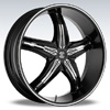 Crave Number 5 Black Chrome Inserts 2 17 X 7.5 Inch Wheels