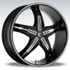 Crave Number 5 Black Diamond Chrome Inserts 17 X 7.5 Inch Wheels