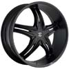 Crave Number 5 Black Matte 17 X 7.5 Inch Wheels