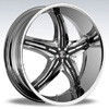 Crave Number 5 Chrome Black Inserts 1 - 17 Inch Wheels
