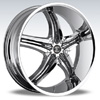 Crave Number 5 Chrome Black Inserts 2 17 X 7.5 Inch Wheels