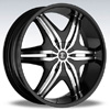 Crave Number 6 Black Machine 22 X 8 Inch Wheels