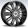 Crave Number 7 Black Diamond 24 X 10 Inch Wheels