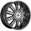 Crave Number 7 Black Machined 22 X 10 Inch Wheels