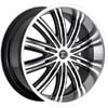 Crave Number 7 Machined Black 24 X 10 Inch Wheels