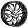 Crave Number 8 Black 22 X 9.5 Inch Wheels