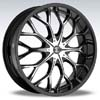 Crave Number 9 Black Machine 22 X 8 Inch Wheels