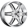 MKW Type 106 Chrome 17 X 7.5 Inch Wheel