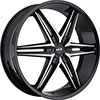 MKW Type 106 Gloss Black Machined Face 17 X 7.5 Inch Wheel