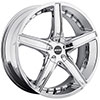 MKW Type 107 Chrome 17 X 7.5 Inch Wheel