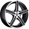 MKW Type 107 Machined Face Black Lip 17 X 7.5 Inch Wheel