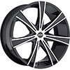 MKW Type 108 Machined Face Black Lip 24 X 9.5 Inch Wheel