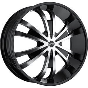 MKW Type 109 Machined Face Black Lip 28 X 10 Inch Wheel