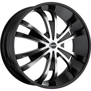 MKW Type 109 Machined Face Black Lip 28 X 10 Inch Wheel