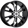 MKW Type 109 Machined Face Black Lip 24 X 9.5 Inch Wheel