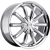 MKW Type 110 Chrome 17 X 7.5 Inch Wheel