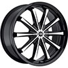 MKW Type 110 Black 20 X 8 Inch Wheel