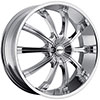 MKW Type 111 Chrome 20 X 8.0 Inch Wheel