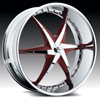 Hipnotic ROXSTAR-RED with Chrome Inserts: 24 Inch