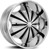 Starr Wheels 619  Slash Chrome with Black Inserts 28 X 10 Inch Wheels
